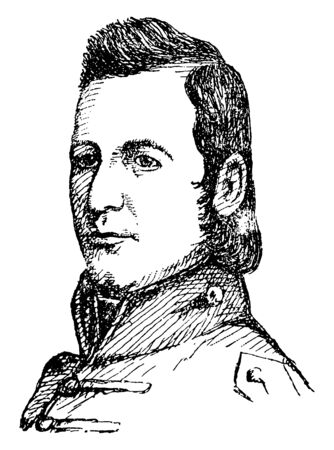 Shadrach Bond, 1773-1832, he was governor of Illinois, vintage line drawing or engraving illustration