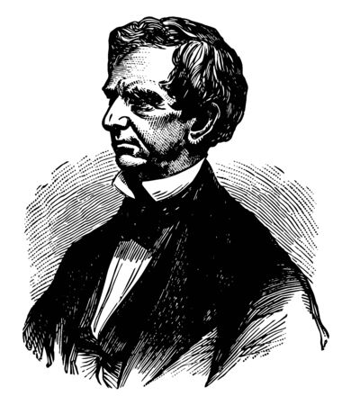 William Henry Seward, 1801-1872, he was United States secretary of state from 1861 to 1869, and governor of New York and United States senator, vintage line drawing or engraving illustration Illustration