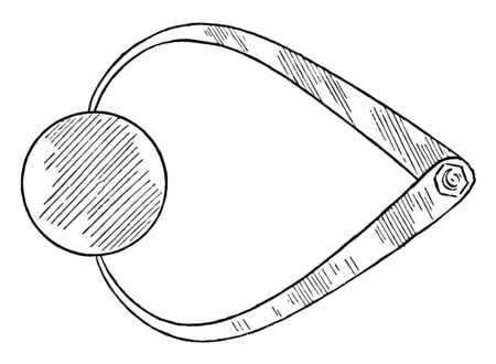 Outside Caliper to measure solid objects, thicknesses and outside diameters of objects, vintage line drawing or engraving illustration. Illusztráció