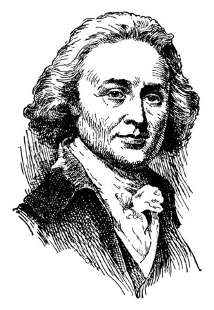John Quincy Adams, 1767-1848, he was the sixth president of the United States from 1825 to 1829, vintage line drawing or engraving illustration