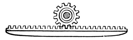 This illustration represents function of Machinery Rack, vintage line drawing or engraving illustration.