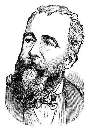 Henri Brisson, 1835-1912, he was a French statesman and prime minister of France, vintage line drawing or engraving illustration