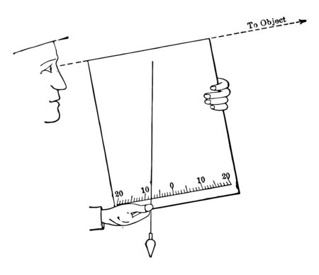 This illustration represents Slope Board which is used for surveying, vintage line drawing or engraving illustration. Çizim