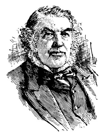 Sir Charles Tupper, 1821-1915, he was sixth prime minister of Canada, vintage line drawing or engraving illustration