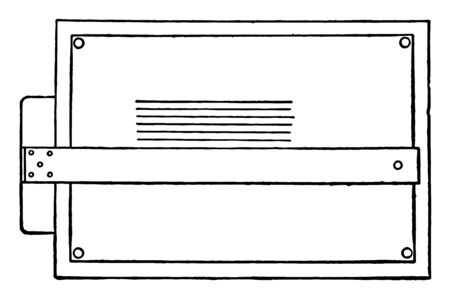 Drawing Parallel Lines can be used in conjunction, stylus of the compass on the point, swing the compass down to make two marks, vintage line drawing or engraving illustration. Illustration