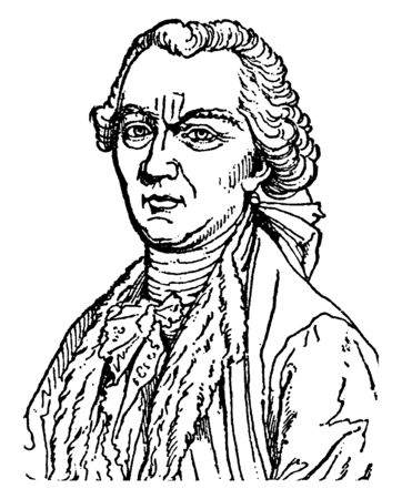Comte de Buffon, 1707-1788, he was a French naturalist, mathematician, and cosmologist, vintage line drawing or engraving illustration