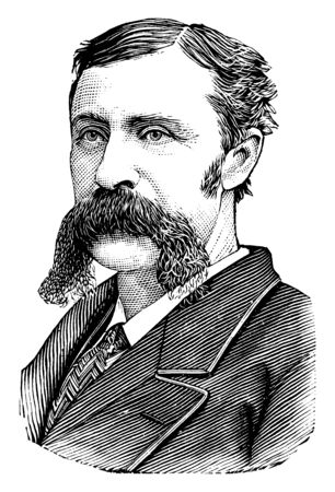Gen. Joseph Clay Stiles Blackburn, 1838-1918, he was a democratic representative and senator from Kentucky, vintage line drawing or engraving illustration Illusztráció
