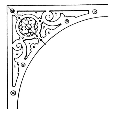 Renaissance Spanrail Panel was designed by Dutch architect Vredman de Vries, vintage line drawing or engraving. Stock Illustratie
