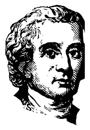 Charles Carroll, 1737-1832, he was Maryland planter and an advocate, first United States senator from Maryland, vintage line drawing or engraving illustration