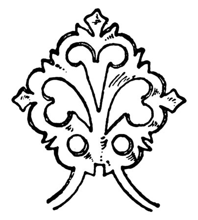 Termination of Hinge terminates as a leaf, applied force rolls away from the core, objective piece, vintage line drawing or engraving illustration.
