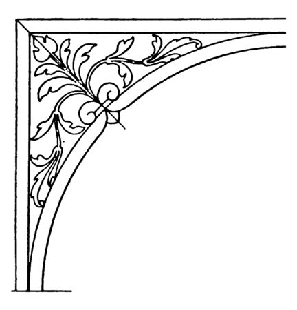 Renaissance Spanrail Panel is a plinth or base of a column, vintage line drawing or engraving. Çizim