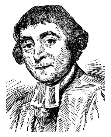 James Beattie, 1735-1803, he was a Scottish poet, philosopher and moralist who spent his entire academic career as professor of moral philosophy and logic, vintage line drawing or engraving illustration Ilustrace