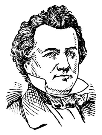 Stephen A. Douglas, 1813-1861, he was an American politician, the designer of the KansasNebraska act, United States senator from Illinois, secretary of state of Illinois, vintage line drawing or engraving illustration