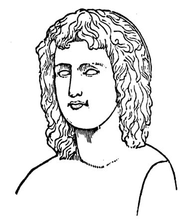 Virgil, 70 BC-19 BC, he was an ancient Roman poet of the Augustan period, vintage line drawing or engraving illustration