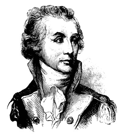 Thomas Sumter, 1734-1832, he was a soldier, a brigadier general and United States senator from South Carolina, vintage line drawing or engraving illustration Stok Fotoğraf - 133483970