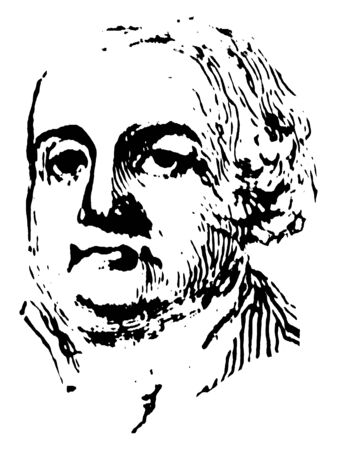 Francis Lewis, 1713-1802, he was a signer of the United States declaration of Independence as a representative of New York, vintage line drawing or engraving illustration