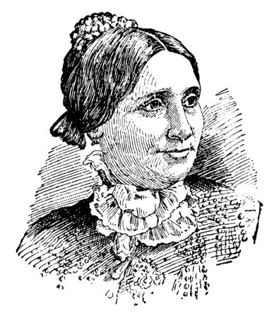 Lucy Webb Hayes, 1831-1889, she was the nineteenth First Lady of the United States, vintage line drawing or engraving illustration