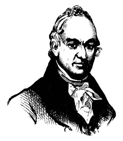 Benjamin Tallmadge, 1754-1835, he was an American military officer, spy master, and politician, famous for his service as an officer in the continental army during the American revolutionary war, vintage line drawing or engraving illustration