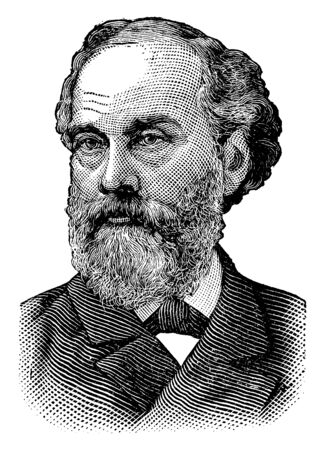 Orville H. Platt, 1827-1905, he was a United States senator from Connecticut, vintage line drawing or engraving illustration Illustration