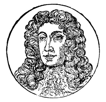 James II, 1633-1701, he was the king of England and Ireland, vintage line drawing or engraving illustration