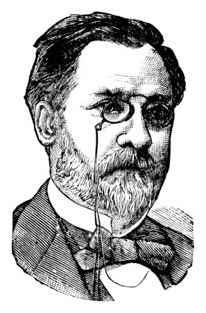 Louis Pasteur, 1822-1895, he was a French biologist, microbiologist and chemist, vintage line drawing or engraving illustration 版權商用圖片 - 133485177