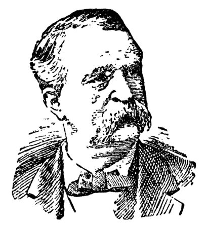 James B. Weaver, 1833-1912, he was a member of the United States house of representatives, vintage line drawing or engraving illustration