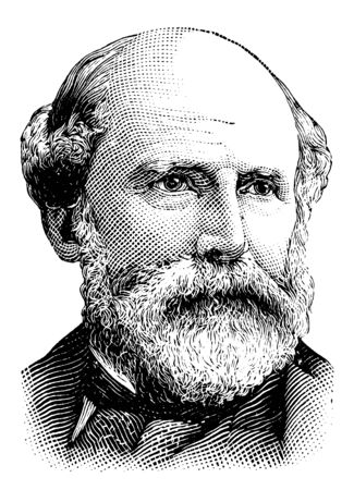 Matt W. Ransom, 1826-1904, he was a general in the confederate states army and U.S. senator from the state of North Carolina, vintage line drawing or engraving illustration