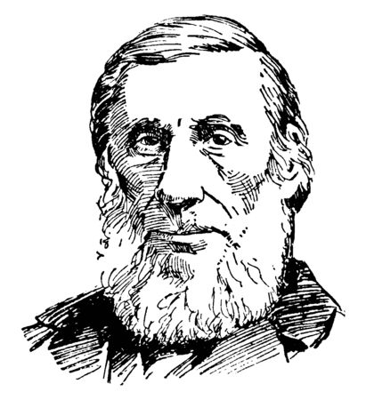 John Tyndall, 1820-1893, he was a prominent nineteenth-century Irish physicist, famous for the Tyndall effect, vintage line drawing or engraving illustration 일러스트
