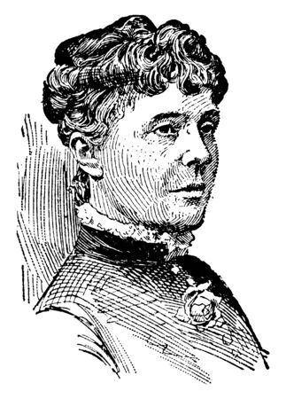 Rose Elizabeth Cleveland, 1846-1916, she was  the first Lady of the United States from 1885 to 1886, vintage line drawing or engraving illustration