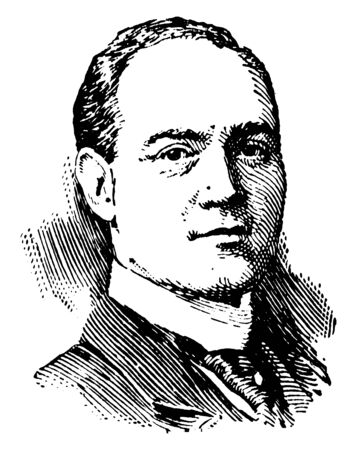 Dr. R. A. Falconer, he was president of the university of Toronto, vintage line drawing or engraving illustration