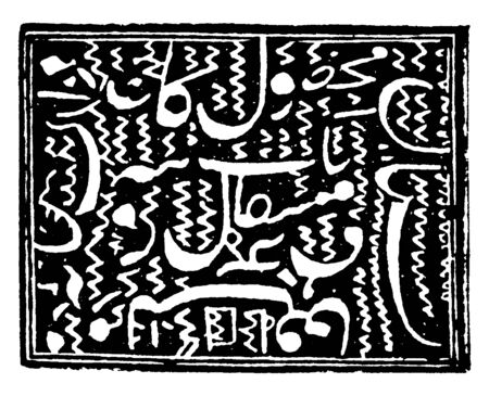 This image represents Afghanistan Stamp Unknown Value in 1892, vintage line drawing or engraving illustration.