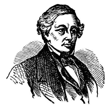 Millard Fillmore, 1800-1874, he was the thirteenth president of the United States from 1850 to 1853, member of the Whig party, and former U.S. Representative from New York, vintage line drawing or engraving illustration 向量圖像