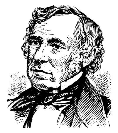 Zachary Taylor, 1784-1850, he was the president of the United States from 1849 to 1850, vintage line drawing or engraving illustration  イラスト・ベクター素材