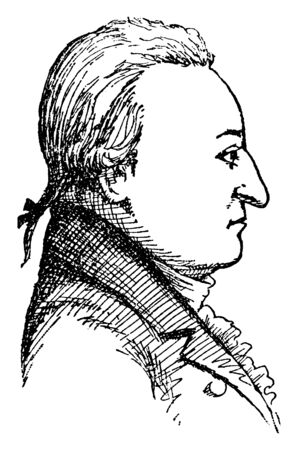 William Livingston, 1723-1790, he was the governor of New Jersey from 1776 to 1790 during the American revolutionary war and signer of the United States constitution, vintage line drawing or engraving illustration Stock fotó - 133486751