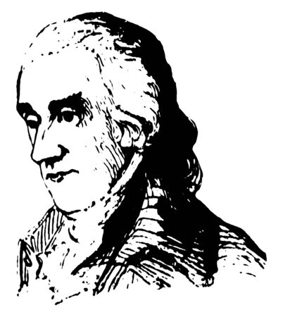 Robert Treat Paine, 1731-1814, he was a lawyer, politician, and signer of the declaration of Independence representing Massachusetts, vintage line drawing or engraving illustration Stock fotó - 133486815