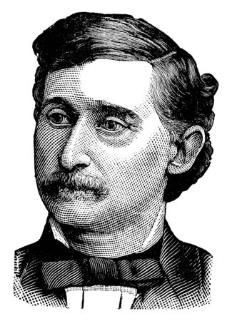 Henry L. Muldrow, 1837-1905, he was an American politician and first assistant secretary of the Interior in the first Cleveland administration, vintage line drawing or engraving illustration Stock fotó - 133486827
