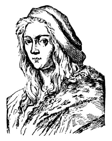 Raphael Sanzio, 1483-1520, he was an Italian painter and architect of the high Renaissance, vintage line drawing or engraving illustration Stock fotó - 133486840