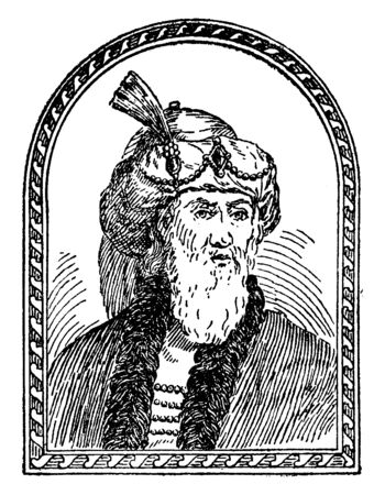 Flavius Josephus, he was a first century Romano-Jewish scholar, historian and hagiographer, vintage line drawing or engraving illustration Stock fotó - 133486893