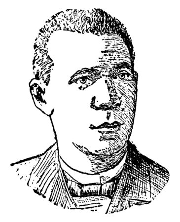 Booker T. Washington, 1856-1915, he was an American educator, author, and orator, vintage line drawing or engraving illustration Stock fotó - 133486898