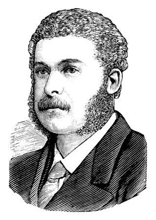 Sir Arthur Sullivan, 1842-1900, he was an English composer, vintage line drawing or engraving illustration Stock fotó - 133486899