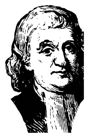 John Witherspoon, 1722-1794, he was a Scottish-American Presbyterian minister and a founding father of the United States, vintage line drawing or engraving illustration 向量圖像