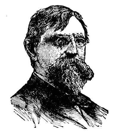 Lewis Wallace, 1827-1905, he was an American lawyer, union general, governor of the New Mexico Territory, politician, and author, vintage line drawing or engraving illustration