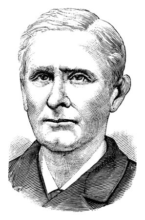 Ephraim K. Wilson II, 1821-1891, he was a congressional representative and United States senator from Maryland, vintage line drawing or engraving illustration