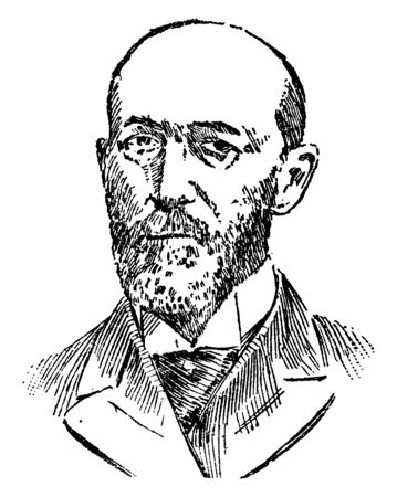 Thomas Platt, 1833-1910, he was a two-term member of the U.S. house of representatives and a three-term U.S. senator from New York, vintage line drawing or engraving illustration