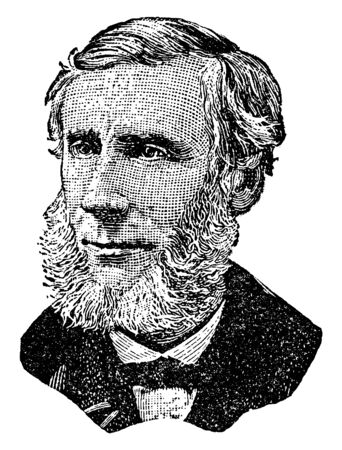 John Tundall, 1820-1893, he was a prominent nineteenth-century Irish physicist, vintage line drawing or engraving illustration