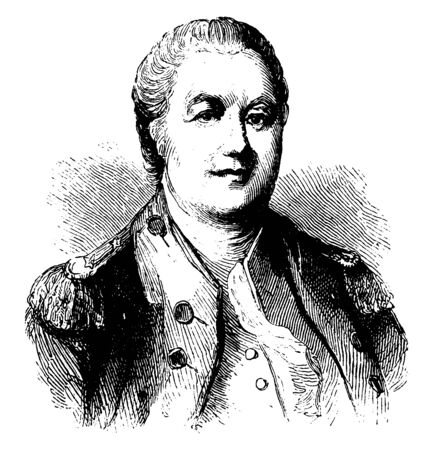 William Smallwood, 1732-1792, he was an American planter, soldier, politician, and governor of Maryland, vintage line drawing or engraving illustration 向量圖像