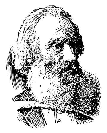 Daniel Wilson, 1816-1892, he was an archaeologist, ethnologist and author, vintage line drawing or engraving illustration 向量圖像