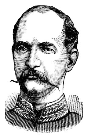 George I, King of Greece, 1845-1913, he was the king of Greece from 1863 to 1913, vintage line drawing or engraving illustration