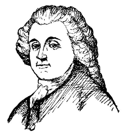 Roger Williams, 1603-1683, he was an English theologian and co-founder of Rhode Island, vintage line drawing or engraving illustration