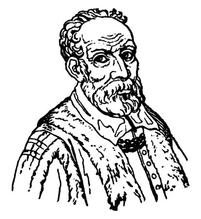 Paul (Paulo) Veronese, 1528-1588, he was an Italian Renaissance painter, vintage line drawing or engraving illustration